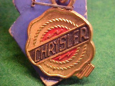 Neat Old Vintage 1947-55 Nos Dealer Promo Chrysler Automobile Keychain On Card