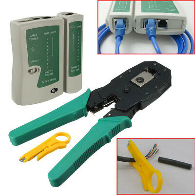 Networking RJ45 RJ11 RJ12 Ethernet Network Cable Crimper Pliers Tools Lan Tester