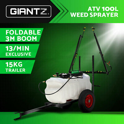 NEW 100L ATV WEED SPRAYER SPOT BOOM SPRAY TANKS 3M Boom Garden Farm Water Pump