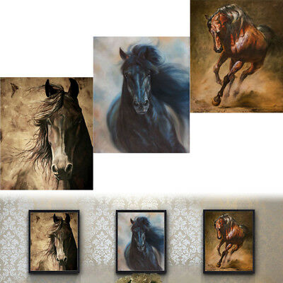 Horse Oilcolor Wall Painting Canvas Picture Art Print Unframed Mural Home Decor