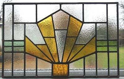 NEWLY CREATED ART DECO STYLE STAINED GLASS PANEL - Ref SG273