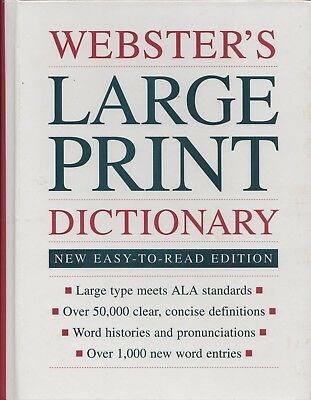 Large print websters dictionary rogets thesaurus college home websters large print dictionary 1994 hc fandeluxe Choice Image