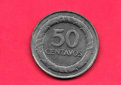 Colombia Km228 1968 Unc-Uncirculated Mint Old Vintage 50 Centavos Coin