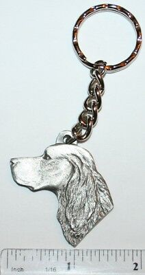 "Gordon Setter Rawcliffe Pewter ""I Love My Dog"" Vintage Keychain"