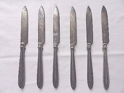 """Antique Set/6 WMF Silverplate Fruit Knives 7""""~Made In Germany"""