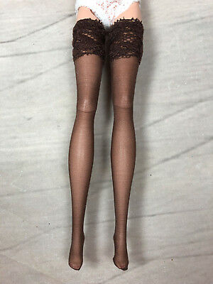 "CHOCOLATE BROWN stockings hose for 12"" Fashion Royalty, Barbie, similar"