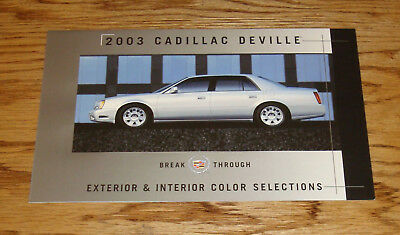 2007 Cadillac DTS Exterior /& Interior Color Selections Brochure 07