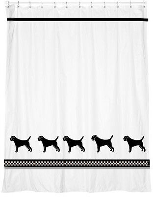 Border Terrier Dog Shower Curtain Our Original* Your Choice of Colors
