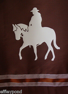 Western Trail Horse Shower Curtain Brown,black,grey or white
