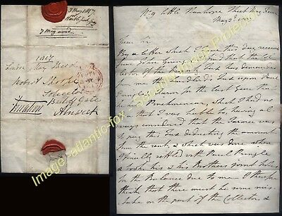1817 FREE mail London, Letter Lt General Sir Henry George Grey to ALNWICK