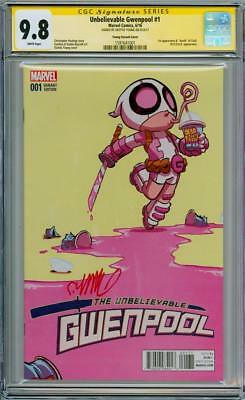 Unbelievable Gwenpool #1 Variant Cgc 9.8 Signature Series Signed Skottie Young