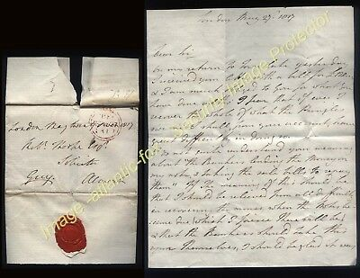 1817 FREE Franked letter from Sir Henry George Grey, brother of Prime Minister
