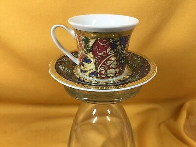Rosenthal Versace Barock Chirstmas Expresso Cup and Saucer