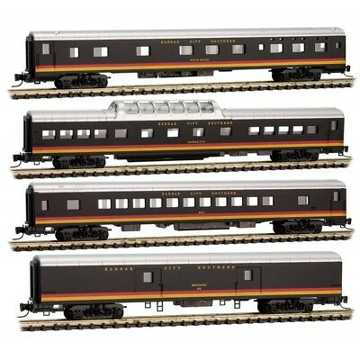 Z Scale - MICRO-TRAINS MTL 994 01 200 KANSAS CITY SOUTHERN 4-Car Runner Pack