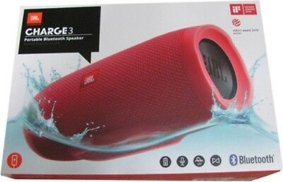 JBL Charge 3 Portable Bluetooth Stereo Speaker - Red (JBLCHARGE3REDAM)