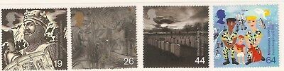 Collectible Great Britain 1999 Millennium Stamps:Soldiers: Civil & World Wars