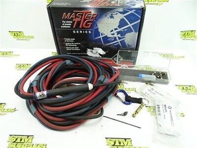 Nice! Master Tig Series Micro Welding Torch Kit 140Amp 25' +Heads & Collets Usa