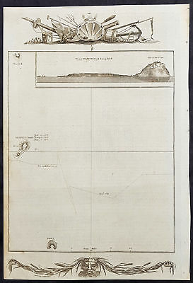 1784 Anderson Antique Map The Island of Iowa Jima, Japan - Cooks 3rd Voyage 1779