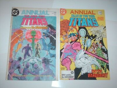 The New Teen Titans Annual  #1 & #4 Dc Comics
