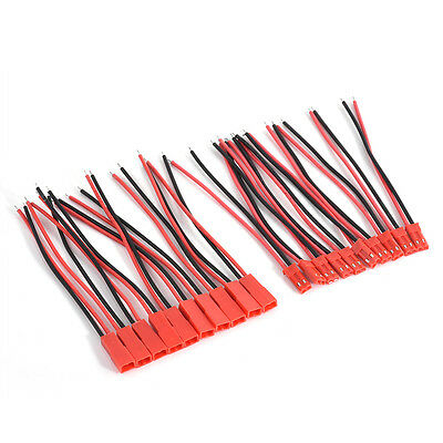 20PCS Male+Female JST Connector Plug Cable Line Set For RC BEC Lipo Battery