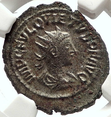 QUIETUS son of Macrianus 260AD Usurper Authentic Ancient Roman Coin NGC i66853