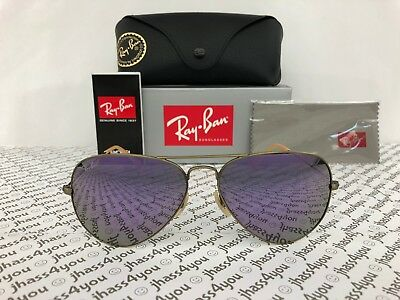 Ray-Ban Aviator Sunglasses RB3025 167/4K Lilac Flash Lens/Bronze Copper Frame 58