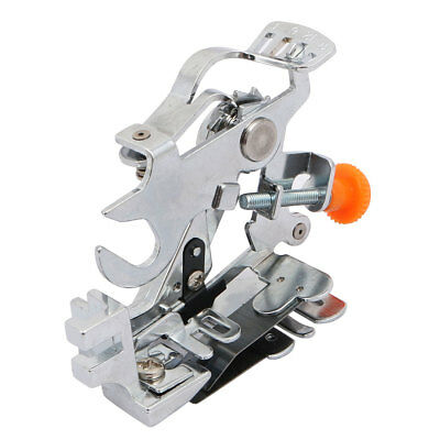 Adjustable Ruffler Metal Home Sewing Machine Foot for Low Shank Silver Tone