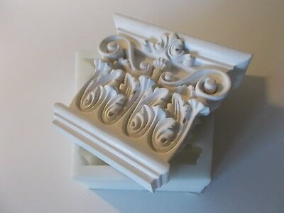 Silicone Rubber Mould Ornate Wall Corbel Furniture Fire Place Shelf Supports