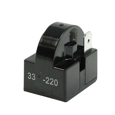 Black Plastic Shell 33 Ohm Single Pin PTC Starter Relay for Refrigerator