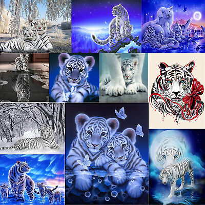 White Tiger Series 5D DIY Diamond Painting Embroidery Cross Stitch Home Crafts
