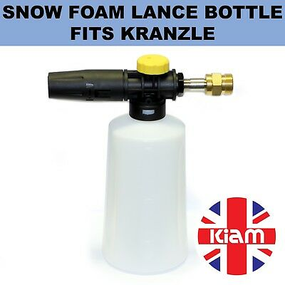 Snow Foam Lance Spray Nozzle Bottle Fits Kranzle Pressure Washer M22 Male