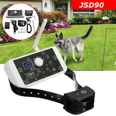 Wireless Electric 1 Dog Pet Fence Containment Systems Transmitter Rechargeable