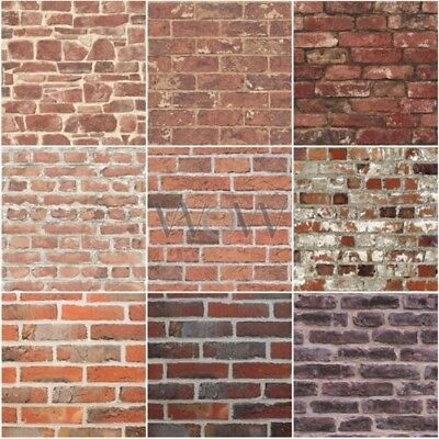 Red Brick Effect Wallpaper Suitable For Any Room Feature Wall New