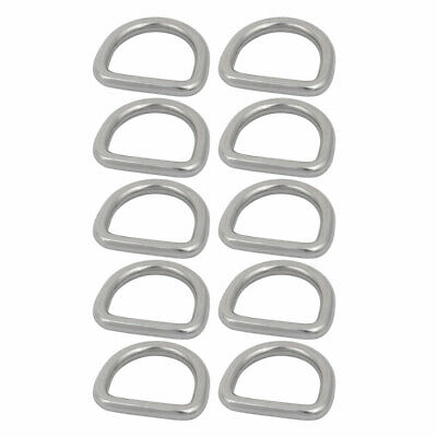 1 Inch Inner Width 304 Stainless Steel D Welded Ring Silver Tone 10pcs