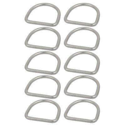 2 Inch Inner Width 304 Stainless Steel D Welded Ring Silver Tone 10pcs