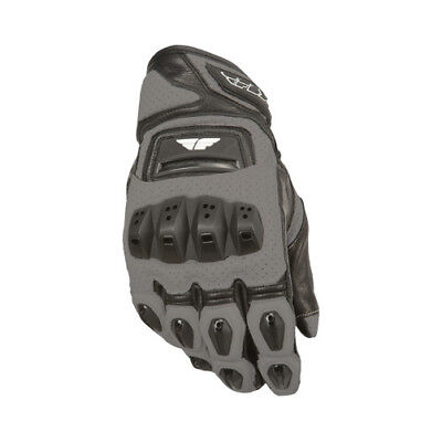 Fly Street ADULT Motorcycle FL2-S Gloves Gun Metal Gloves Size 2XL