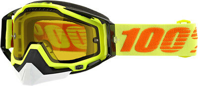 100% Racecraft Snow Snowmobile Goggles Yellow Clear Lens