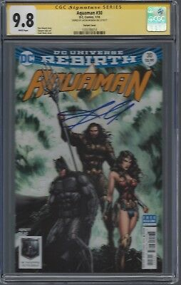 Aquaman #30 variant cover__CGC 9.8 SS__Signed by Jason Momoa