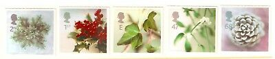 Collectible Great Britain 2002 Christmas MNH Stamps:Holly,Ivy,Mistletoe,PineCone