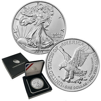 2019 Silver Eagle BU in U.S Mint Box