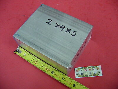 "2 Pieces 2"" X 4"" ALUMINUM 6061 FLAT BAR 5"" long Solid T6511 Plate New Mill Stock"