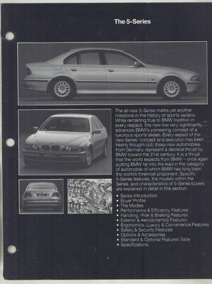 1997 BMW 528i 540i Salesman's Data Book Revision Pages Brochure wy9941