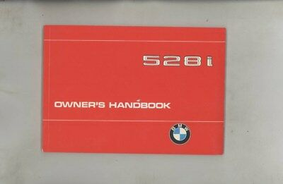 1981 BMW US 528 528i MINT ORIGINAL Owner's Manual wy9954