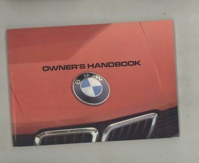 1982 BMW US 528 528e MINT ORIGINAL Owner's Manual wy9955