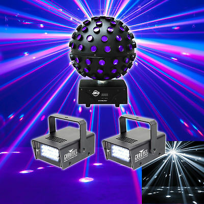 American DJ Starburst Sphere Multi Color Shooting Beam Lighting FX+(2) Strobes
