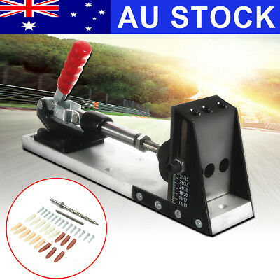 AU Pocket Hole Drill Jig Joinery System Woodworking Portable w/Drilling Bit Sets