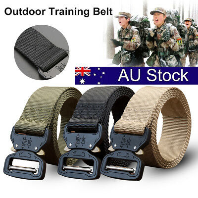 Outdoor Heavy Duty Rigger Army Military Tactical Belt Quick-Release Metal Buckle