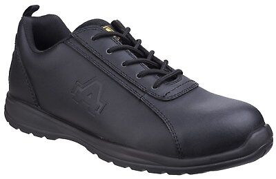 Amblers AS604C Metal Free Semi-Formal Mens Black Leather PPE Safety Shoes