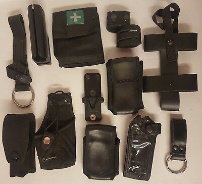 PICK 2 ITEMS  Ex Police Belt Equipment Baton Klcikfast Radio First Aid Pouches