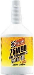 Red Line Oil 57904;Gear Oil; Single; 1 Quart Bottle; 75W-90; Synthetic; GL-5